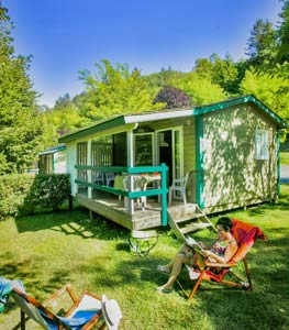 Location chalet camping Dordogne