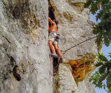 Camping escalade Dordogne