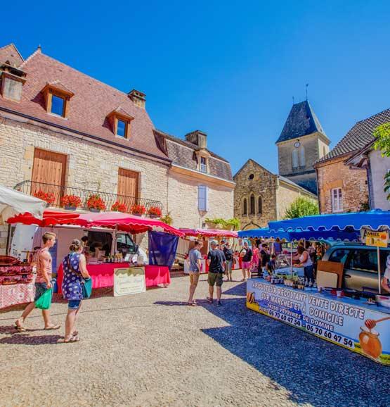 Camping marchés Dordogne