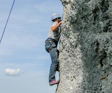 Escalade camping Dordogne