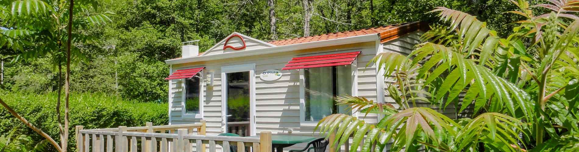 location mobil home familial en Dordogne