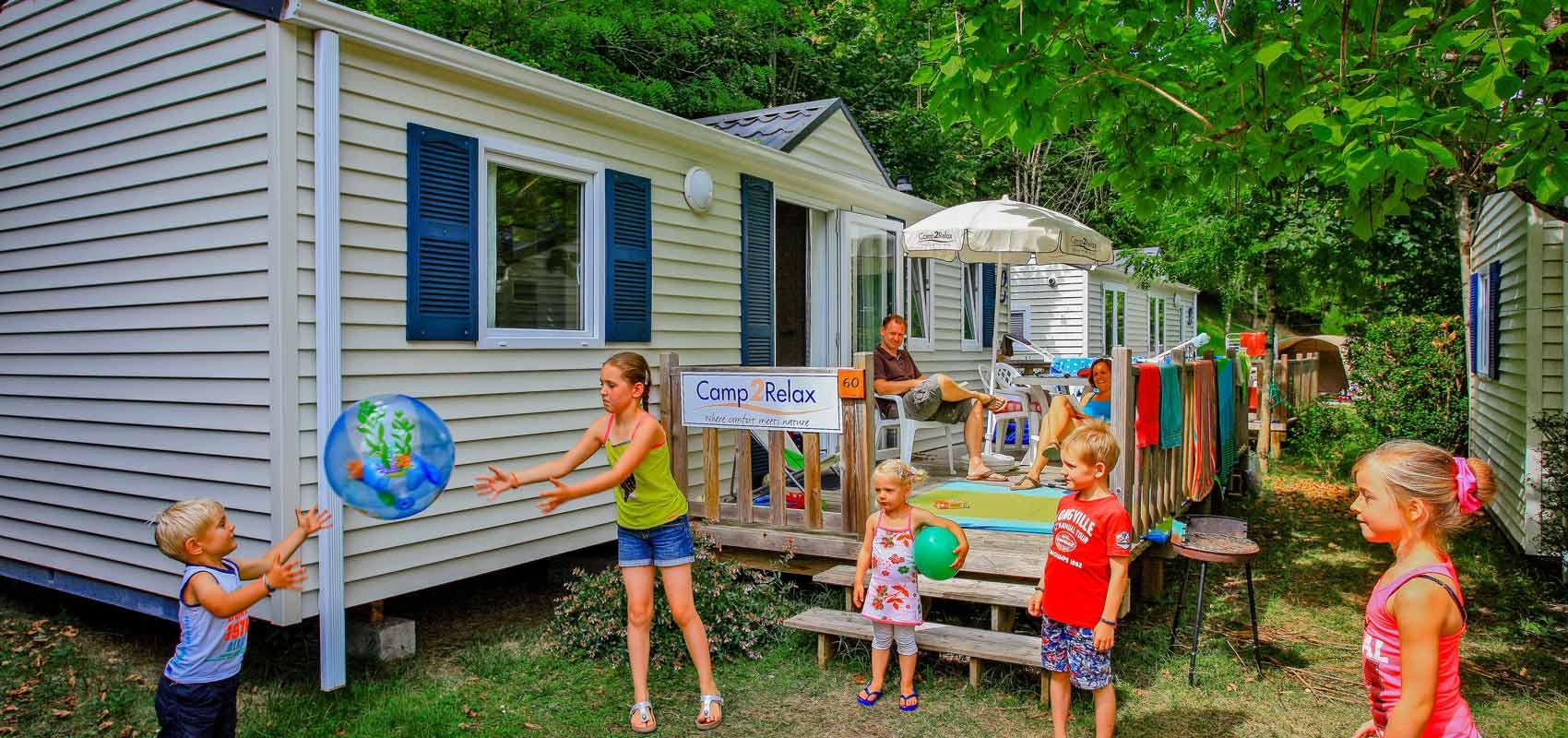 Mobil-home camping familial Dordogne