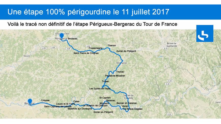 Camping tour de France Périgord